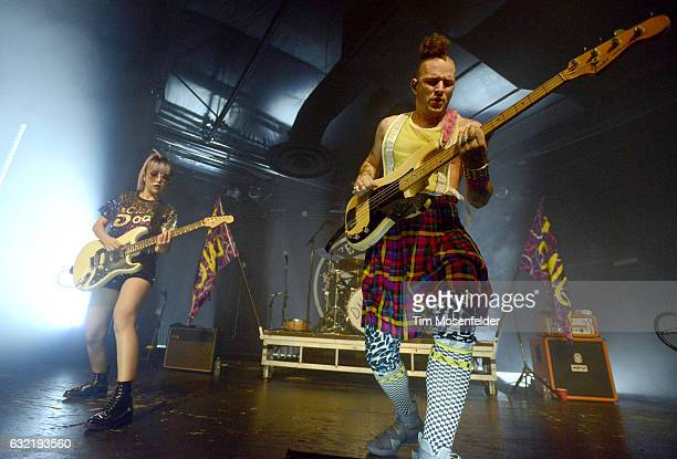 JinJoo Lee and Cole Whittle of DNCE perform in support of the band's self titled release at Ace of Spades on January 19 2017 in Sacramento California