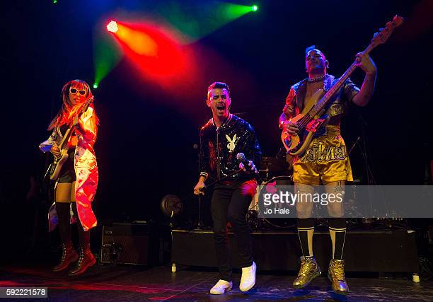 JinJoo Lee Joe Jonas and Chole Whittle of DNCE perform on stage at O2 Academy Islington on August 19 2016 in London England