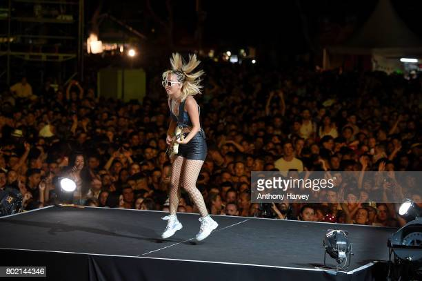 JinJoo Lee of DNCE performs at the annual Isle of MTV Malta event at Il Fosos Square on June 27 2017 in Floriana Malta