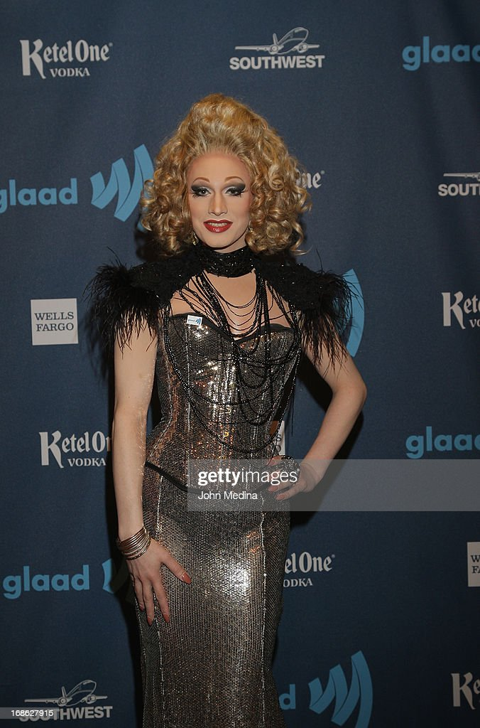 Jinkx Monsoon attends the 24th Annual GLAAD Media Awards at the Hilton San Francisco - Union Square on May 11, 2013 in San Francisco, California.