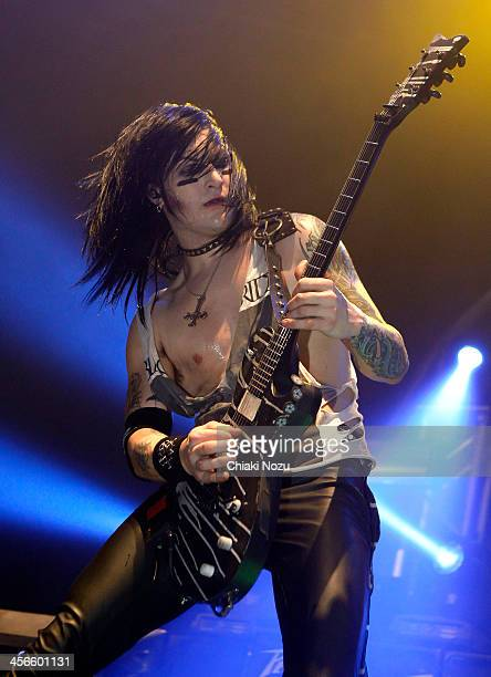 Jinxx of Black Veil Brides performs at The Roundhouse on December 14 2013 in London England