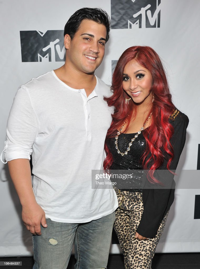 Jionni LaValle and Nicole 'Snooki' Polizzi attend MTV 'Restore The Shore' Jersey Shore Benefit at on November 15 2012 in New York City