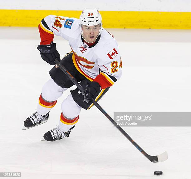 Jiri Hudler of the Calgary Flames against the Tampa Bay Lightning at the Amalie Arena on November 12 2015 in Tampa Florida