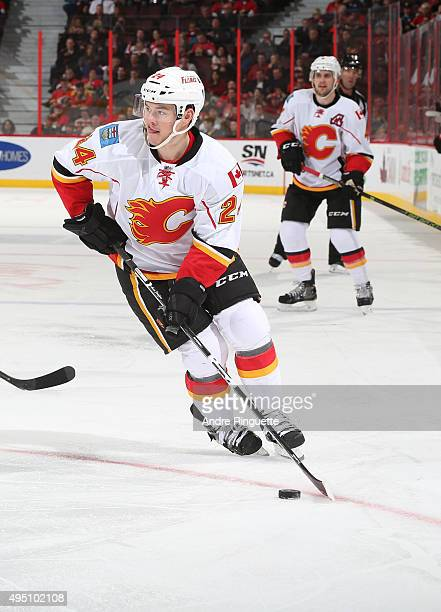 Jiri Hudler of the Calgary Flames skates against the Ottawa Senators at Canadian Tire Centre on October 28 2015 in Ottawa Ontario Canada