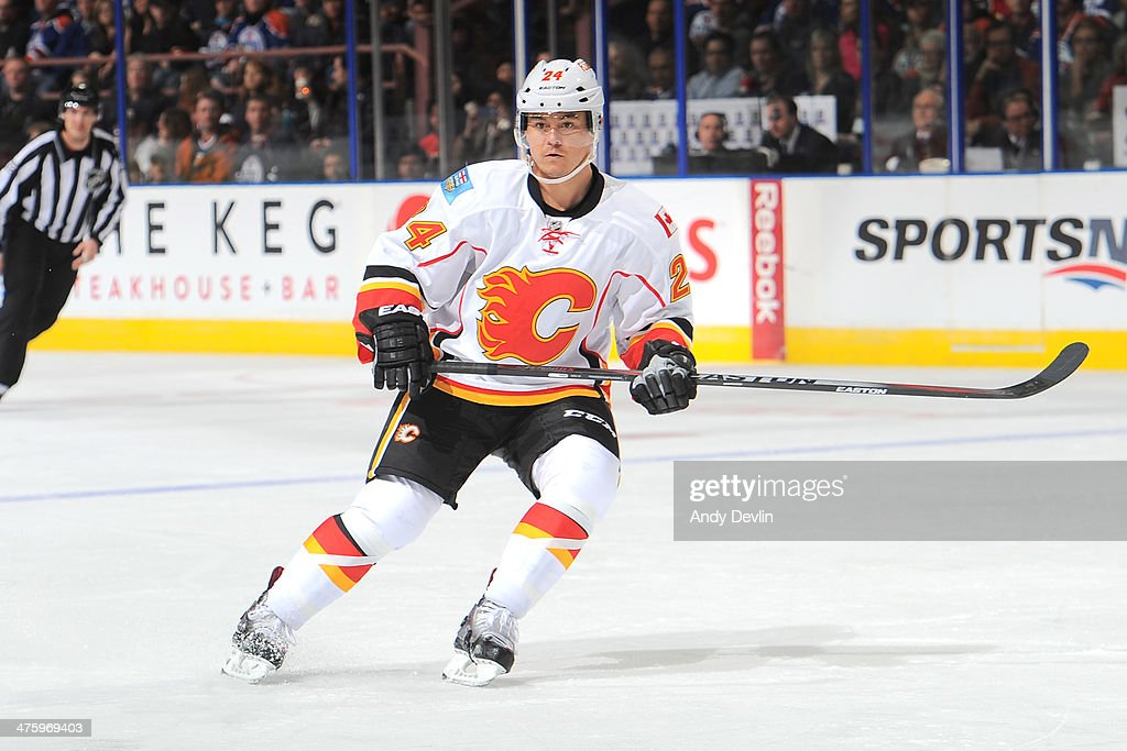 <a gi-track='captionPersonalityLinkClicked' href=/galleries/search?phrase=Jiri+Hudler&family=editorial&specificpeople=2118675 ng-click='$event.stopPropagation()'>Jiri Hudler</a> #24 of the Calgary Flames skates on the ice in a game against the Edmonton Oilers on March 1, 2014 at Rexall Place in Edmonton, Alberta, Canada.