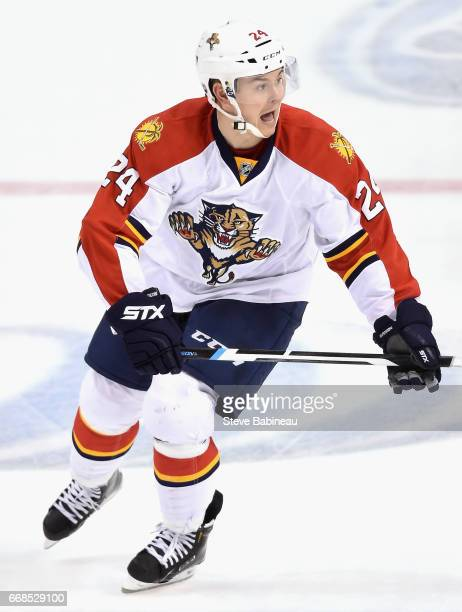 Jiri Hudler of the Florida Panthers plays in the game against the Boston Bruins at TD Garden on March 25 2016 in Boston Massachusetts