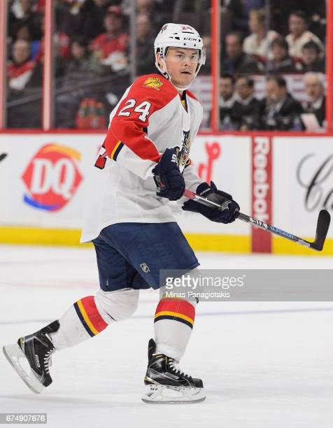 Jiri Hudler of the Florida Panthers plays in the game against the Ottawa Senators at Canadian Tire Centre on April 7 2016 in Ottawa Ontario Canada
