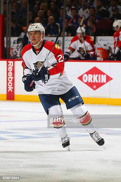 Jiri Hudler of the Florida Panthers skates against the New York Islanders in Game Four of the Eastern Conference First Round during the NHL 2016...