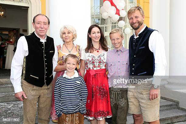 Jiri Kochta father of Renata Kochta and his girlfriend Kueta Marketa KochtaVanek sister of Renata Kochta and her husband Jiri Vanek and their...