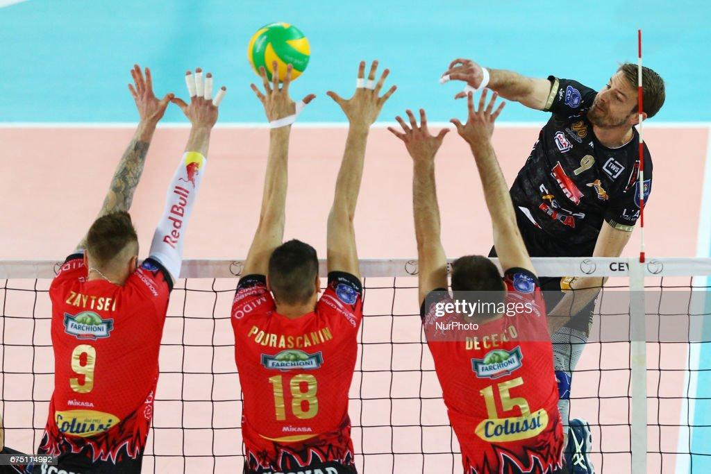 jiri kovar civitanova during cev volleyball champions league semifinal sir sicoma colussi perugia v