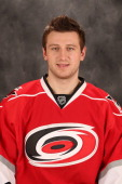 Jiri Tlusty of the Carolina Hurricanes poses for his official headshot for the 20122013 season on January 132013 in Raleigh North Carolina