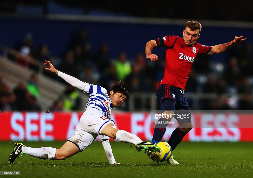 Ji-Sung Park of Queens Park Rangers battles for the ball with James Morrison of West Bromwich Albion during the FA Cup with Budweiser Third Round match between Queens Park Rangers and West Bromwich Albion at Loftus Road on January 5, 2013 in London, England.