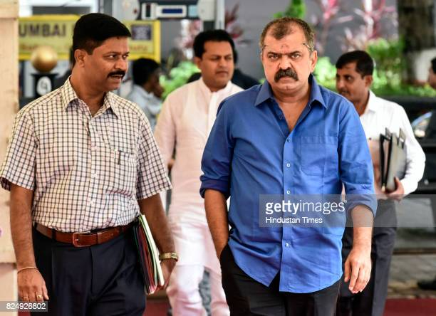 Jitendra Awhad arrives at Vidhan Bhavan for Monsoon Assembly Session on July 31 2017 in Mumbai India