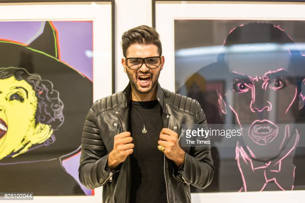 Jivi Moodley during the opening of the Andy Warhol exhibition at the Wits Art Museum on July 26 2017 in Johannesburg South Africa The exhibition is...