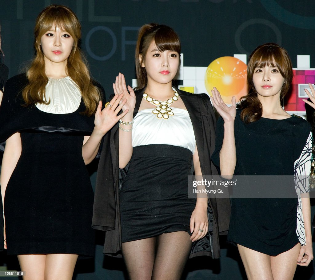 Jiyeon (Ji-Yeon) and Soyeon (So-Yeon), Boram of South Korean girl group T-ara arrive at the 2012 SBS Korea Pop Music Festival named 'The Color Of K-Pop' at Korea University on December 29, 2012 in Seoul, South Korea.