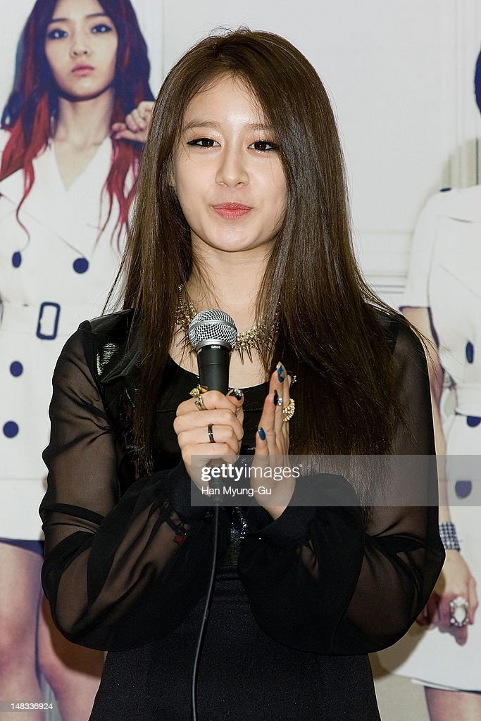 Jiyeon (Ji-Yeon) of South Korean girl group T-ara attends a press conference to promote their 6th mini album named 'Day by Day' at Kyung Hee University on July 14, 2012 in Seoul, South Korea.