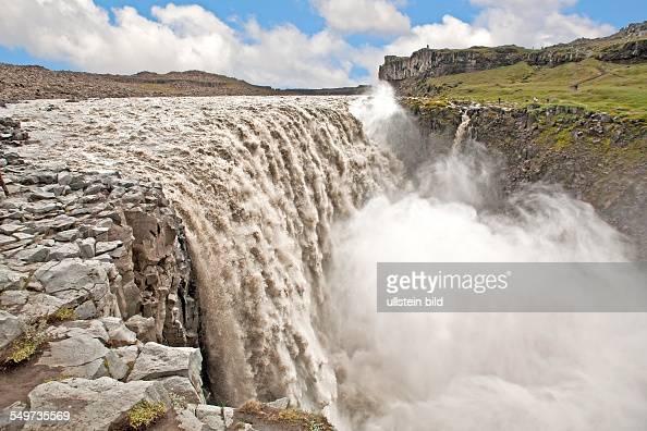 Jökulsá á Fjöllum Dettifoss waterfall Iceland Europe volcanic islandvolcan landscape North Atlantic polar circle glacier