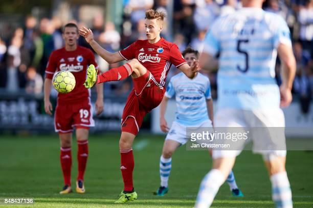 Ján Gregus of FC Copenhagen in action during the Danish Alka Superliga match between FC Helsingor and FC Copenhagen at Helsingor Stadion on September...