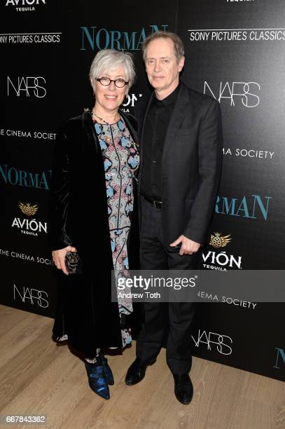 Jo Andres and Steve Buscemi attend a screening of Sony Pictures Classics' 'Norman' hosted by The Cinema Society with NARS AVION at the Whitby Hotel...