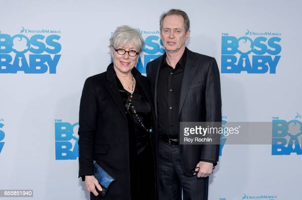 Jo Andres and Steve Buscemi attend 'The Boss Baby' New York Premiere at AMC Loews Lincoln Square 13 theater on March 20 2017 in New York City