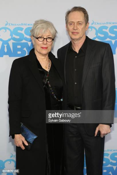 Jo Andres and Steve Buscemi attend 'The Boss Baby' New York Premiere on March 20 2017 in New York City