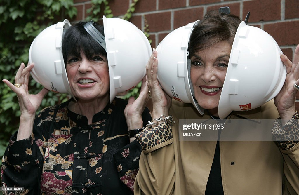 Jo Anne Worley and Linda Dano during Rosie's Broadway Kids Hard Hat Party to Celebrate the Progress of Maravel Arts Center at Maravel Arts Center 445...