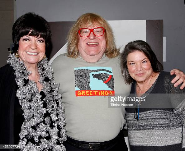 Jo Anne Worley Bruce Vilanch and Mindy Cohn attend the 'Celebrity Autobiography show' at El Portal Theatre on October 13 2014 in North Hollywood...