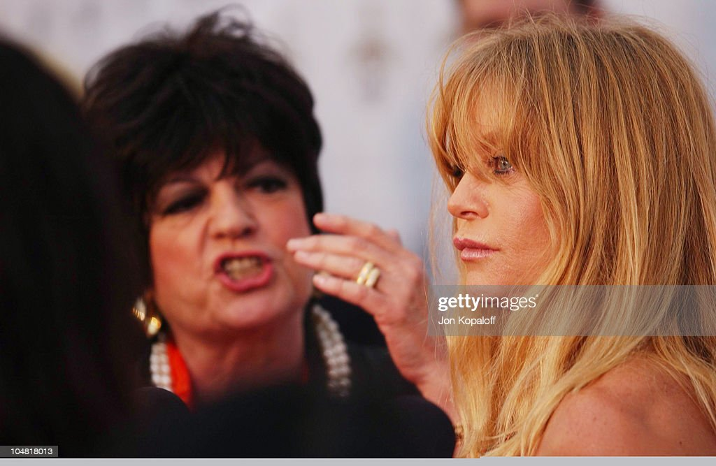 Jo Anne Worley Goldie Hawn during Opening Night of 'The Producers' at Pantages Theatre in Hollywood California United States