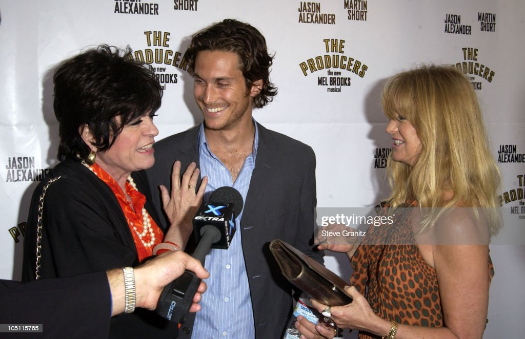 Jo Anne Worley Oliver Hudson Goldie Hawn during Opening Night of 'The Producers' Arrivals at Pantages Theatre in Hollywood California United States