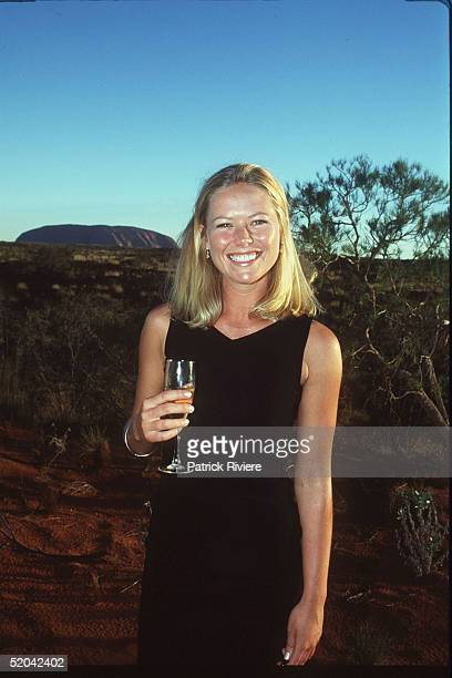 12 DECEMBER 1999 Jo Beth Taylor at the Cats Run Away to the Circus gala evening in the majestic Cats Big Top in the shadows of Uluru Northern...