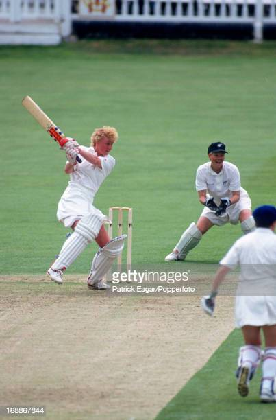 Jo Chamberlain batting England v New Zealand Women's World Cup Final at Lord's1993