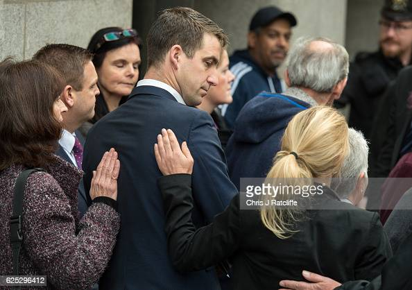 Jo Cox's husband Brendan Cox is comforted by his sisterinlaw Kim Leadbeater following the guilty verdict in Thomas Mair's trial for the murder of Jo...