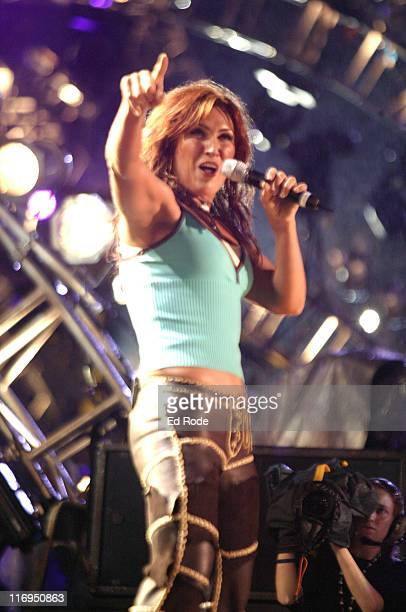 Jo Dee Messina performs at the nightly concert at The Coliseum on Sunday June 11 in Nashville during the 2005 CMA Music Festival