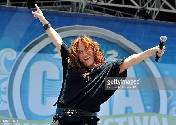 Jo Dee Messina performs on the Chevrolet RIverfront Stage during the 2012 CMA Music Festival on June 8 2012 in Nashville Tennessee