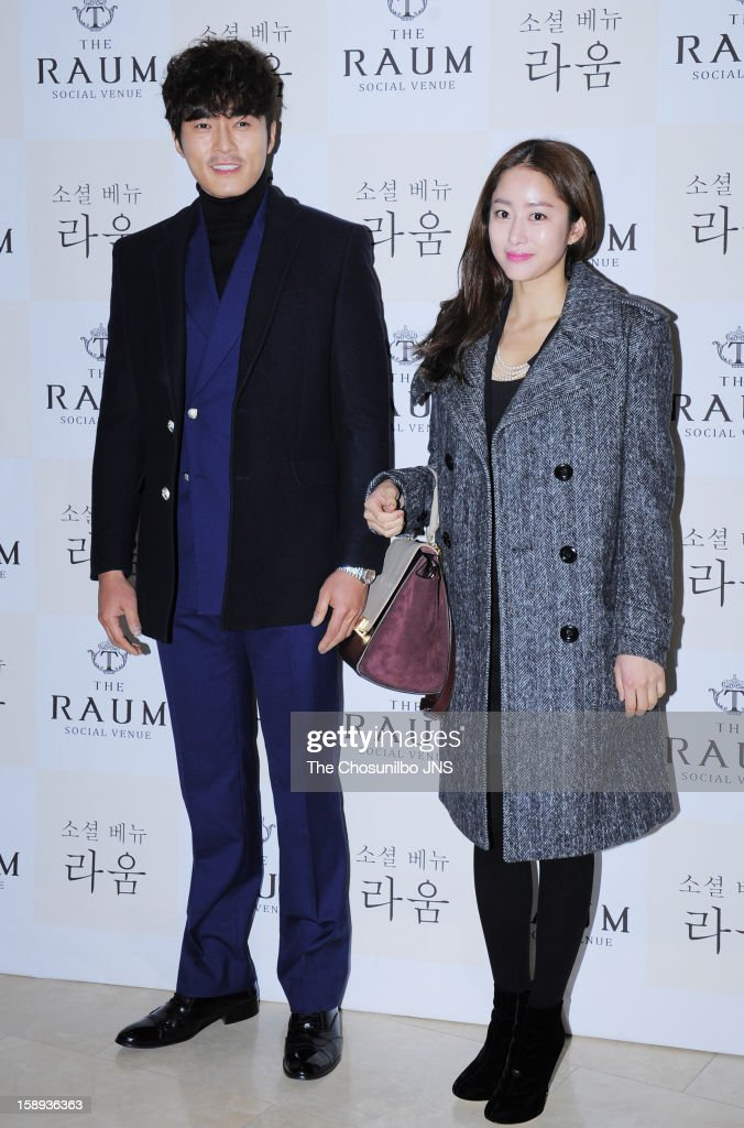 Jo Dong-Hyeok and Jeon Hye-Bin attend the Seo Do-Young Wedding at the raum on December 22, 2012 in Seoul, South Korea.