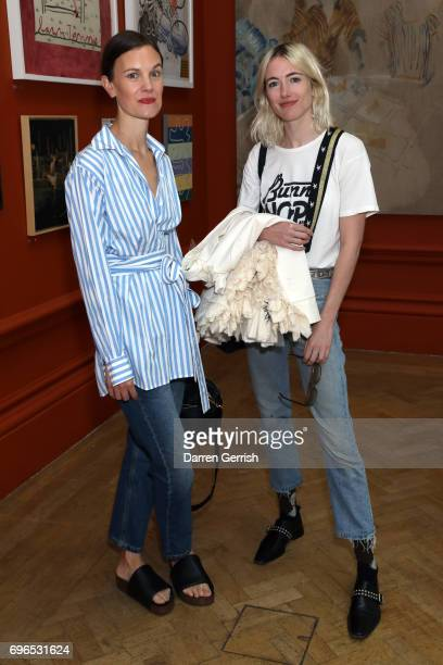 Jo Ellison and Phoebe Arnold attend the Roksanda handbag celebration breakfast at the Royal Academy of Arts on June 16 2017 in London England