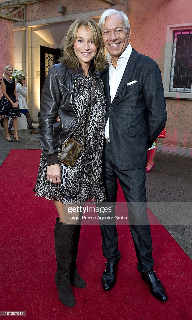 Jo Groebel and Caroline Beil attend the 'Fest der Eleganz und Intelligenz' at Villa Siemens on September 20, 2013 in Berlin, Germany.