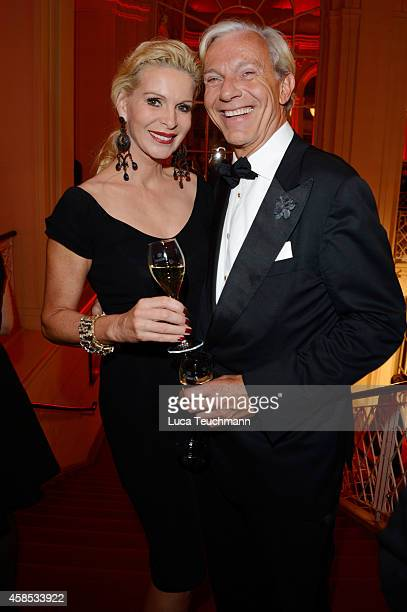 Jo Groebel and Grit Weiss are seen at the after show party of the GQ Men Of The Year Award 2014 after show party at Komische Oper on November 6 2014...