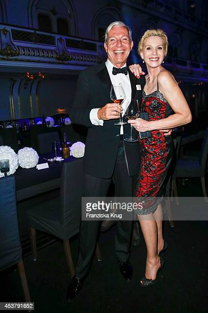 Jo Groebel and Grit Weiss attend the Dom Perignon Stage Dinner on August 18 2014 in Hamburg Germany