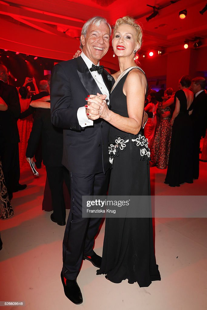 <a gi-track='captionPersonalityLinkClicked' href=/galleries/search?phrase=Jo+Groebel&family=editorial&specificpeople=2298591 ng-click='$event.stopPropagation()'>Jo Groebel</a> and Grit Weiss attend the Rosenball 2016 on April 30, 2016 in Berlin, Germany.