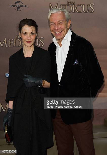 Jo Groebel and guest attend the German premiere of the film 'The Physician' at Zoo Palast on December 16 2013 in Berlin Germany