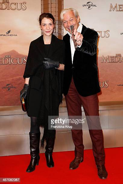 Jo Groebel and guest attends 'The Physician' German Premiere on December 16 2013 in Berlin Germany