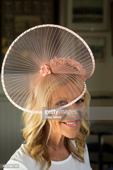 Jo Hall wears one of Chantelle's designs at the Ford Millinery launch on October 1 2014 in Melbourne Australia