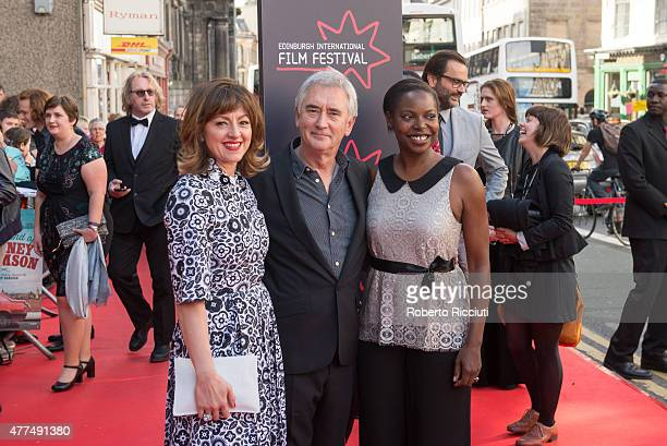 Jo Hartley Denis Lawson and Jacqueline Lyanga attend the Opening Night Gala and World Premiere of 'The Legend of Barney Thomson' during the Edinburgh...
