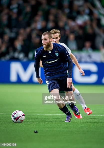 Jo Inge Berget of Malmo FF during the Allsvenskan match between Hammarby IF and Malmo FF at Tele2 Arena on October 25 2015 in Stockholm Sweden