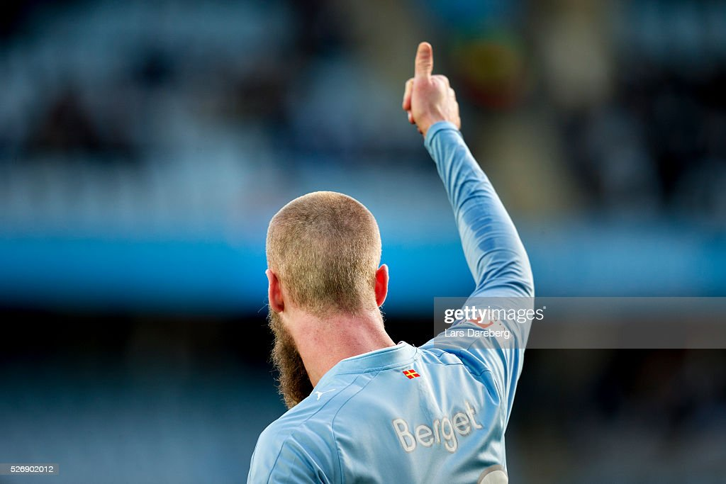 Jo Inge Berget of Malmo FF during the Allsvenskan match between Malmo FF and BK Hacken at Swedbank Stadion on May 1, 2016 in Malmo, Sweden.