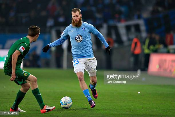 Jo Inge Berget of Malmo FF during the Allsvenskan match between Malmo FF and Hammarby IF at Swedbank Stadion on November 6 2016 in Malmo Sweden