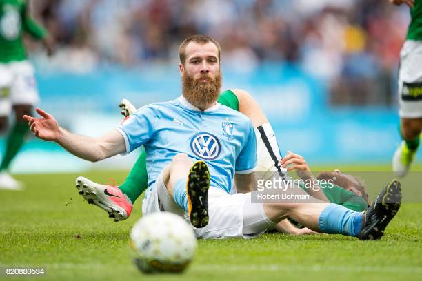 Jo Inge Berget of Malmo FF during the Allsvenskan match between Malmo FF and Jonkopings Sodra IF at Swedbank Stadion on July 22 2017 in Malmo Sweden