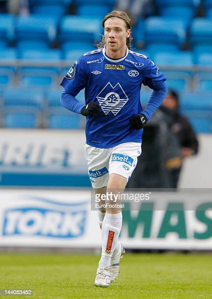 Jo Inge Berget of Molde FK in action during the Norwegian Tippeligaen match between Molde FK and Aalesunds FK held on May 6 2012 at the Aker Stadion...