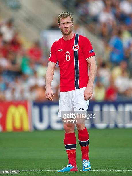 Jo Inge Berget of Norway U21 during the UEFA U21 Championship match between England U21 and Norway U21 on June 8 2013 at the Ha Moshava stadium in...